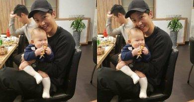 Gemes! Song Joong Ki Gendong Bayi Terlalu Bapakable