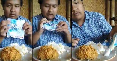 Siaran Live FB Pria Sunda Ini Makan Ayam Campur Sabun Colek