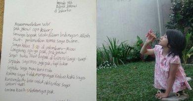 Gadis Tanpa Kaki Ini Kirim Surat dan Minta Hadiah Pada Jokowi