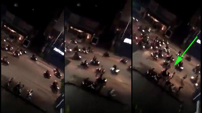 Video Sekumpulan Geng Motor Buat Kerusuhan dan Bawa Senjata Tajam
