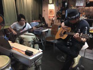 ギター、ベースでのセッション