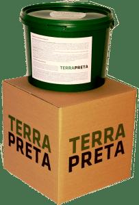 10 Liter TERRA PRETA Produkt und Verpackung der Schwarzerde.