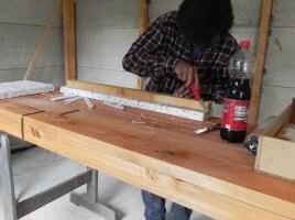 Für die Dämmung nahmen wir ein Restpaket von 4cm starkem Fassadenstyropor.