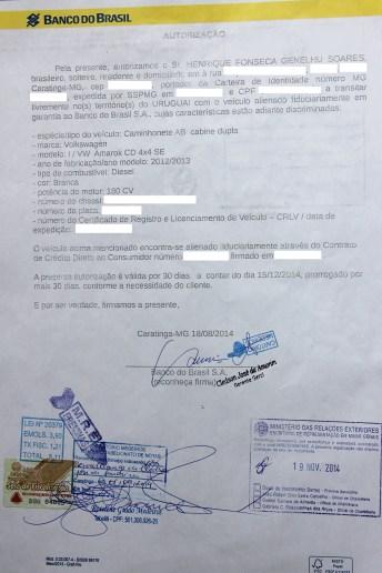 Autorização do Uruguai