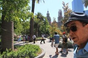 Simpático chileno que nos abordou na Plaza de Armas e nos deu boas dicas