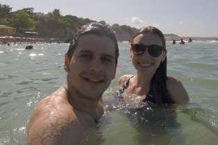 Aproveitamos para nadar em suas piscinas naturais