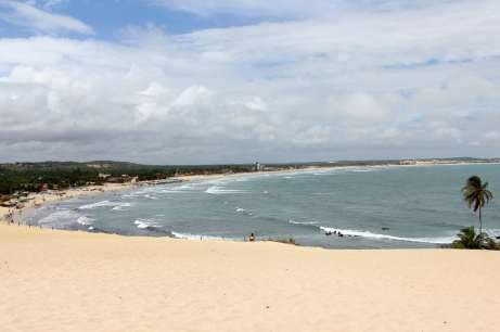 As dunas da praia de Genipabu
