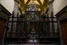Dentro a antiga Basílica de Nossa Senhora de Guadalupe