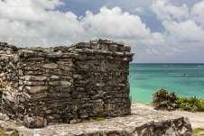 ... ruínas da antiga cidade murada dos Maias