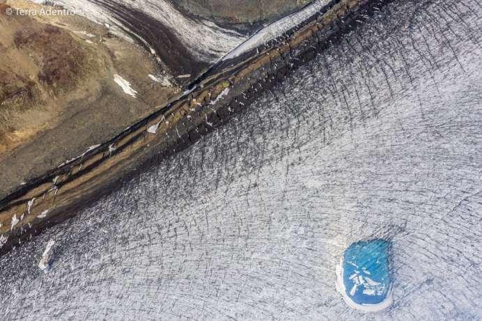 E, até mesmo, pequenos lagos do degelo dos glaciares