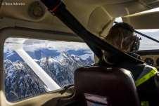 A pilota Ally, que comandava a expedição