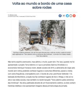 Entrevista Tribuna de Minas