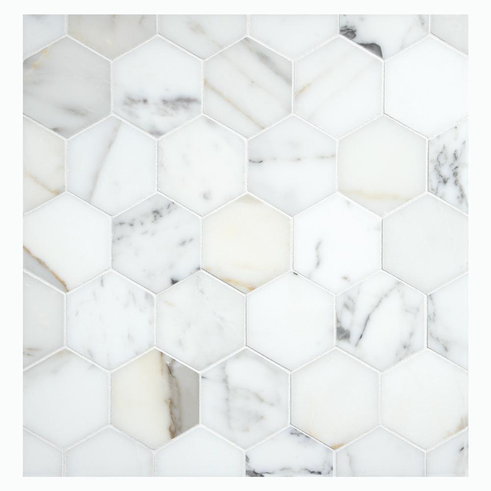 calacatta gold marble 2 25 hexagon