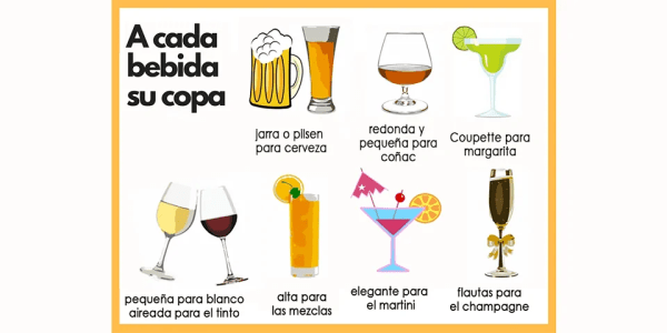 cada bebida su copa