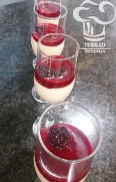 Quark de madalena y frutas rojas