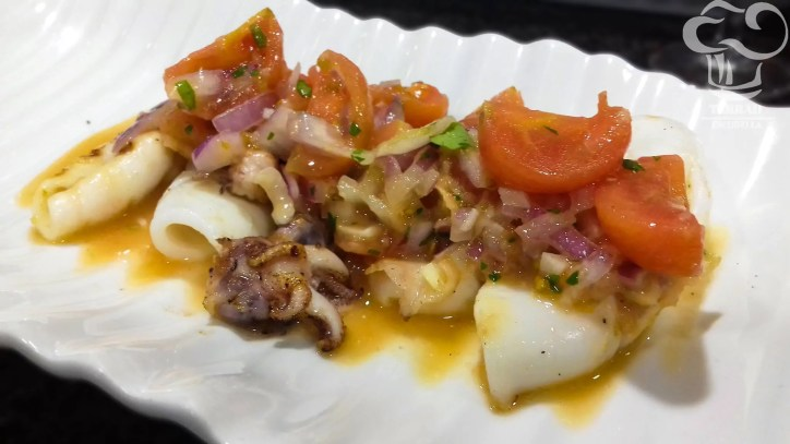Receta de calamares salteados con salsa rougail