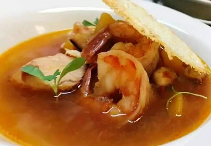 Receta de sopa de pescado con rouille