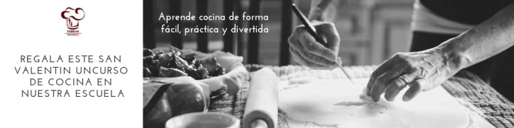 Regala un curso de cocina en San Valentin