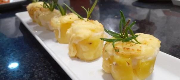 Receta de patatas rellenas de brandada