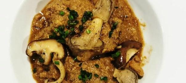 Receta de liebre con foie y setas