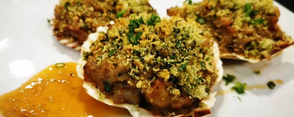 Receta de conchas de pescado y marisco
