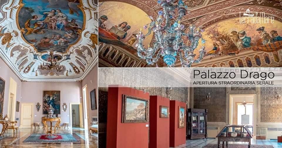 Notte a Palazzo Drago - tra i quattro canti e la Cattedrale - Palermo