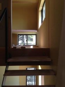 木造住宅現場写真和室へのアプローチ