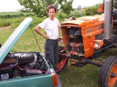 Il trattore mi sfinisce!