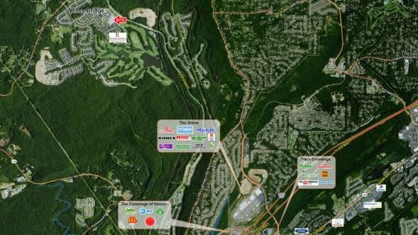 Ross Bridge Retail: Aerial