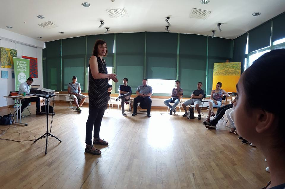 Nevena Bajalica speaking at the workshop in Cracow