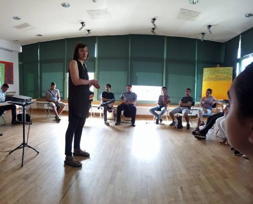 Nevena Bajalica as a facilitator at one of the workshops