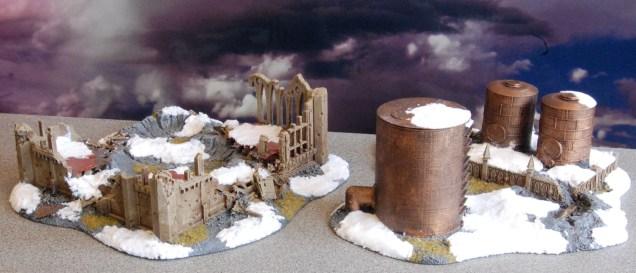 GW ruins & 3d printed storage tanks