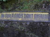 on our roads don´t overload