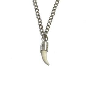 Collar cocodrilo plata