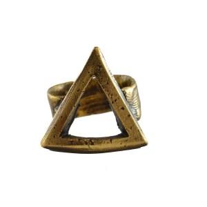 Anillo Triángulo Bronce
