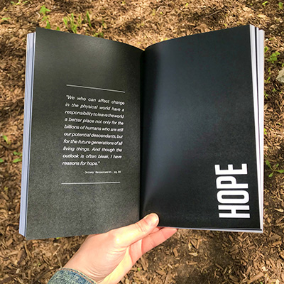 page spead HOPE from the book Eyewitness Minnesotan Voices on Climate Change