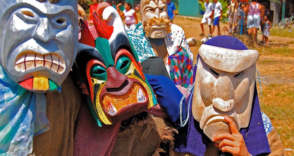 Diablitos Party in Costa Rica