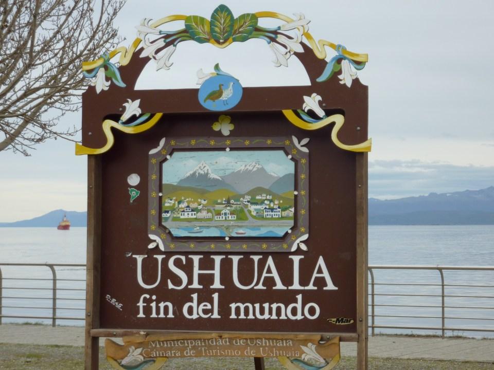 Cartello di Ushuaia