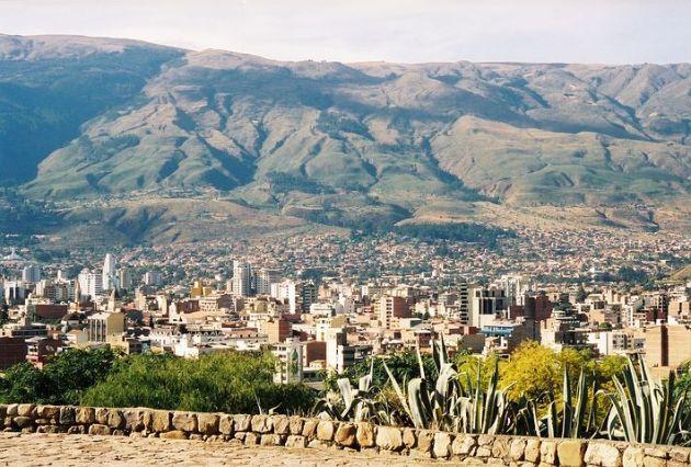 Vista della città di Cochabamba
