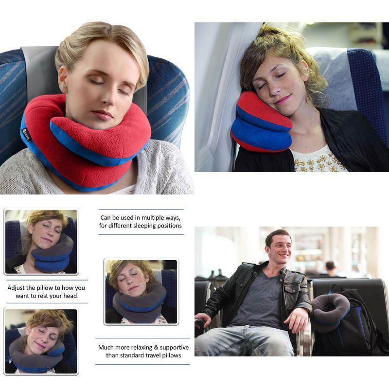 bcozzy chin supporting travel pillow supports head neck chin adult red new terrashopia