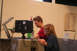 Tami Myers working with a student