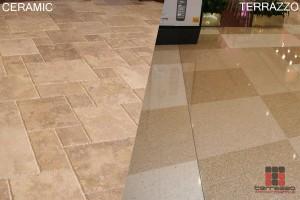 terrazzo flooring vs ceramic tiles