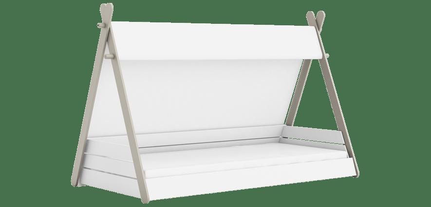 lit enfant tipi 90x200 cm blanc perle