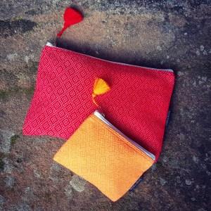 Pochettes Terres Karens Rouge et Orange