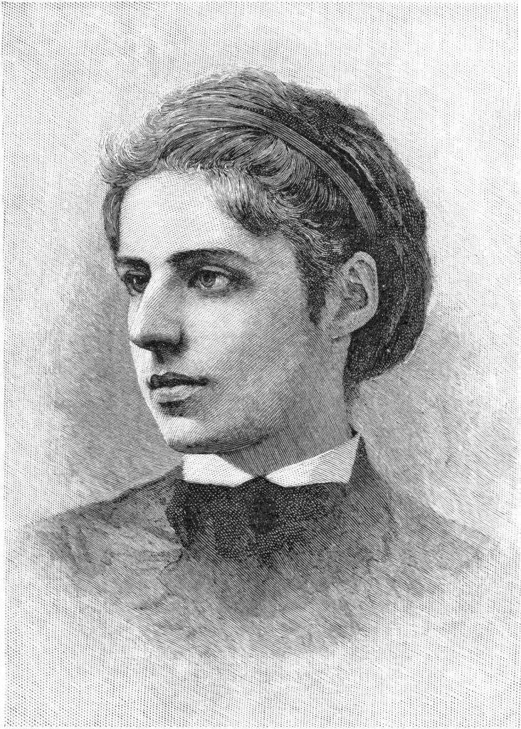 Emma Lazarus, born July 21, 1849