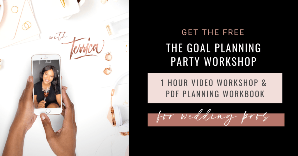 Goal Planning Workshop Party for wedding pros