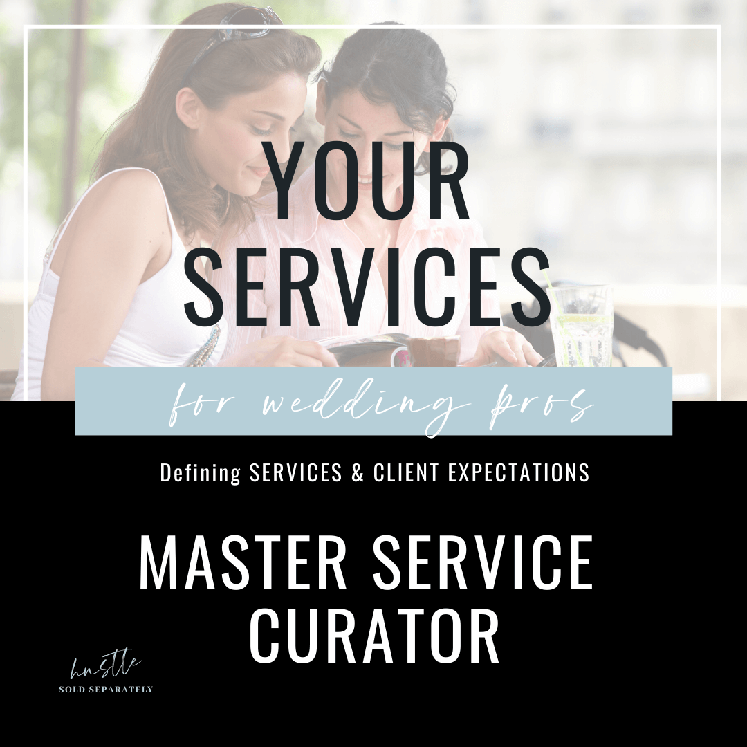 Define your wedding service collection with tiered pricing