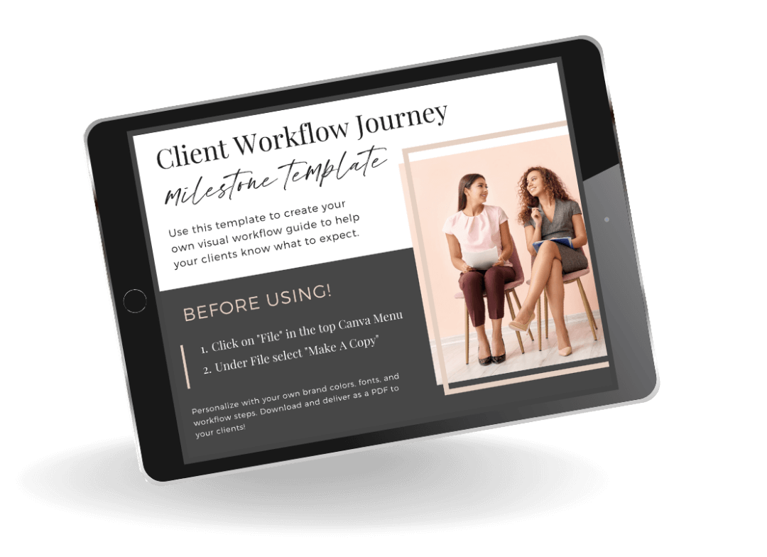 Map out your wedding client workflow journey with this easy template