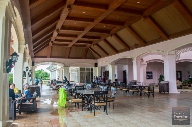 Open area for dining & lounging at the Clubhouse
