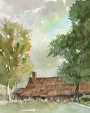 """""""November Ranch"""" was painted en plein air at the historic Tanque Verde Guest Ranch east of Tucson."""